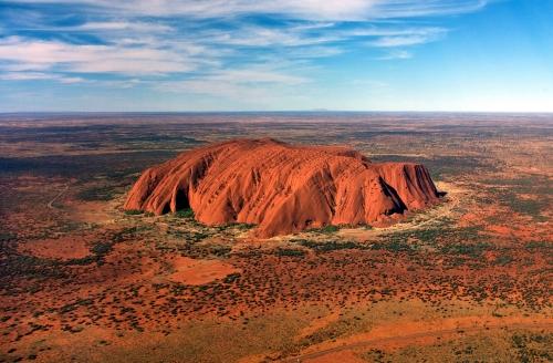 Uluru in the semi-arid region of Central Australia